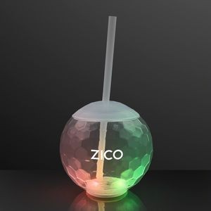 Light Up Ball Tumbler Glass, Disco Party Cups - Overseas Imprint