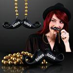Custom Beaded Black Mustache Necklaces
