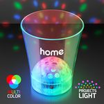 Custom 8 Oz. Disco Ball Light Projecting LED Cup