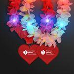 Custom Light Up Hawaiian Leis with Custom Heart Medallion