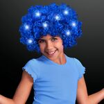 Custom Light up Blue Afro Wig w/Flashing LEDs