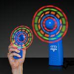 Custom Promotional LED Blue Custom Light Up Mini Fan