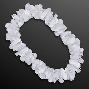 Custom White Flower Lei Necklace (Non-Light Up)