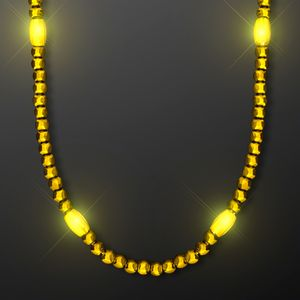 Custom Groovy Golden Yellow LED Party Beads
