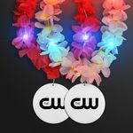 Custom Light Up Hawaiian Leis with Custom White Medallion