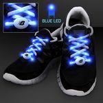Custom Blue LED Shoelaces for Night Fun Runs