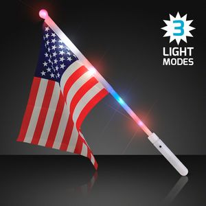 Custom Light Up American Flag Wand