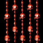 Custom Red Football Helmet Bead Necklace