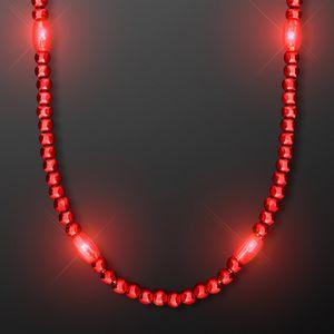Custom LED Red Light Up Mardi Gras Beads