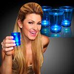 Custom 2 Oz. Blue Shot Glass w/ Blinking LED