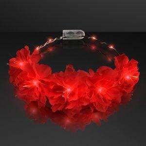 Custom Red LED Flower Crown