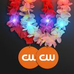 Custom Light Up Hawaiian Leis with Custom Orange Medallion