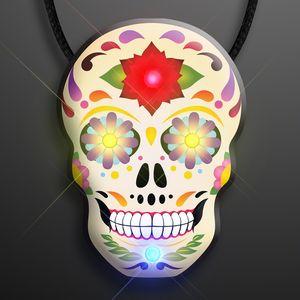 Custom Light Up Day of the Dead Sugar Skull Necklace