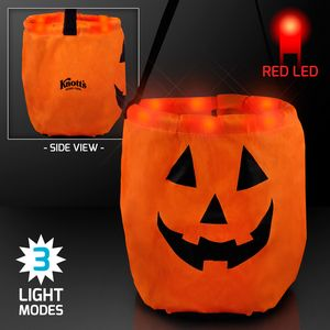 LED Pumpkin Trick-Or-Treat Halloween Bag