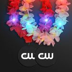Custom Light Up Hawaiian Leis with Custom Black Medallion