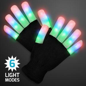 Custom Stripe Light Fingers LED Glow Gloves