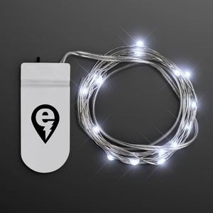 Imprinted Cool White Craft String Lights