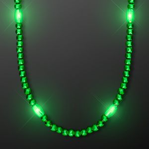 Custom LED Green Glow Mardi Gras Beads