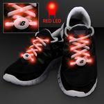 Custom Red LED Shoelace Lights for Night Running