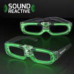 Custom Sound Activated Lights Green Party Shades, 80s Style - 5 Day