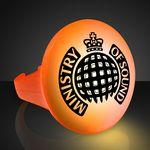 Custom Imprinted LED Orange Flash Glow Ring