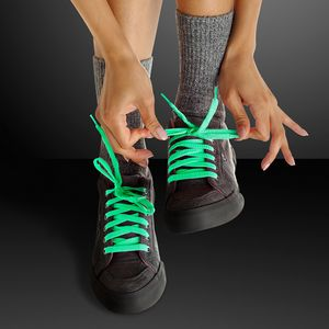 Custom Glow-in-the-Dark Green Shoelaces