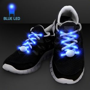 Custom Blue LED Shoelaces for Night Fun Runs