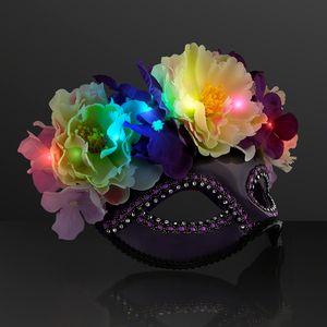 Custom Blinky Flower Mask, LED Masquerade Ball Masks