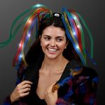 Custom 5 Day Custom Rainbow Noodle Headband w/ LED's & Multi Color Ribbons