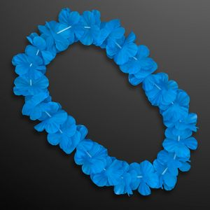 Custom Blue Flower Lei Necklace (Non-Light Up)