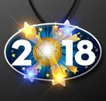 Custom 2018 Blinky on Lanyard for New Year's Eve