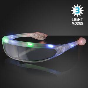 Custom Spaceman Light Up Futuristic Sunglasses