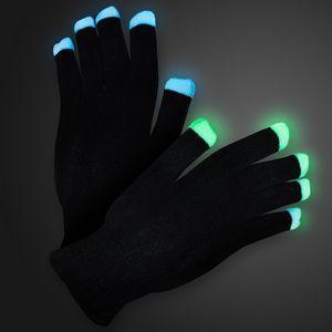 Custom Soft Black Light Up Show Gloves