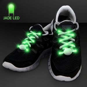 Custom Jade Light Up Shoelaces for Night Runs