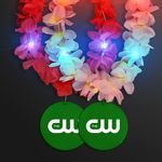 Custom Light Up Hawaiian Leis with Custom Green Medallion