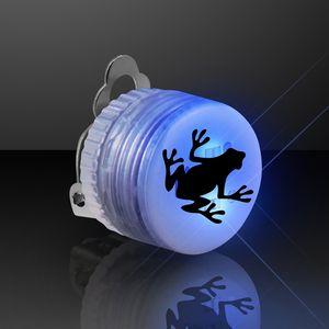 Custom Blue Blinking LED Clip On Pin
