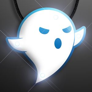 Custom Flashing Ghost Halloween Necklace