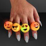 Custom Emoji Faces Fun Flash Soft Rings