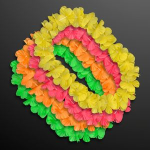 Custom Neon Color Assorted Hawaiian Leis (Non-Light Up)