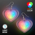 Custom Multicolor LED Flashing Hearts Pierced Earrings
