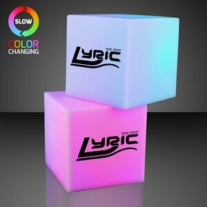 "Imprinted 2.75"" Light Deco Cube w/ Color Change LEDs (5 Days)"