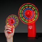 Custom Custom LED Red Promotional Light Up Mini Fan