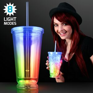Custom Light Up Multicolor Deluxe Double Wall Tumblers