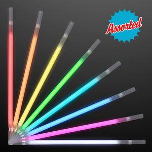 Custom Glow Straw ASSORTED COLOR Party Packs