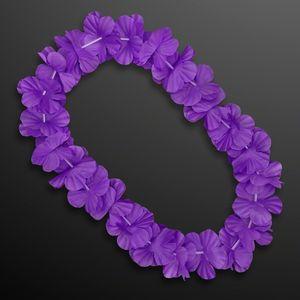 Custom Purple Flower Lei Necklace (Non-Light Up)