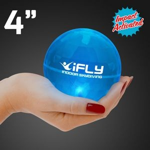 Custom Printed Super Sized Blue Air Bounce Ball w/ LED Lights