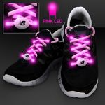 Custom Pink Shoelaces w/ Pink LEDs for Night Walks