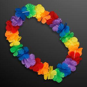 Custom Rainbow Flowers Lei Necklaces (Non-Light Up)
