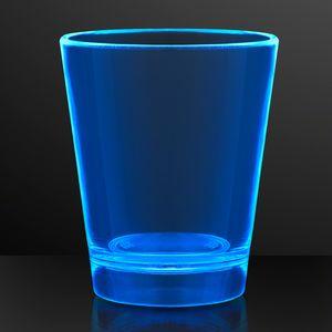 Custom 1.5 oz. UV Reactive Blue Glow Shot Glasses