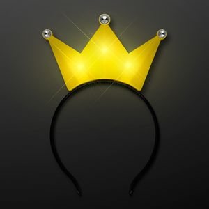 Custom Light Up Yellow Crown Tiara Princess Headband